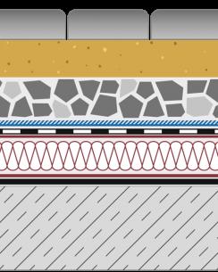 Rozwiązanie systemowe - dach ekstensywny - JW 80-E - alejka na dachu