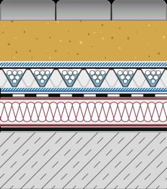 Rozwiązanie systemowe - dach ekstensywny - GD 20-E - alejka na dachu
