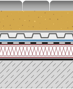 Rozwiązanie systemowe - dach ekstensywny - GD 400-E - alejka na dachu