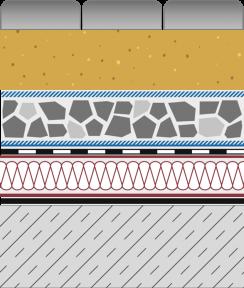 Rozwiązanie systemowe - dach ekstensywny - KR 50-E - alejka na dachu