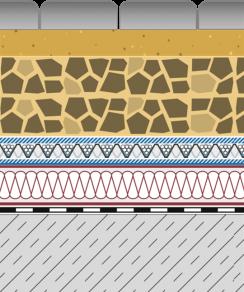 Rozwiązania systemowe - dachy intensywne - GD 20-I - chodnik i droga na dachu