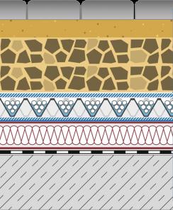 Rozwiązania systemowe - dachy intensywne - GD 40-I - chodnik i droga na dachu