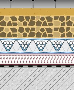 Rozwiązania systemowe - dachy intensywne - GD 60-I - chodnik i droga na dachu