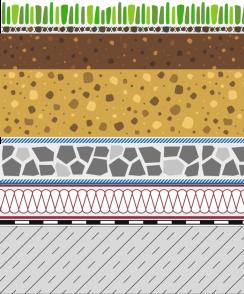 Rozwiązania systemowe - dachy intensywne - KR 50-I - trawnik na dachu