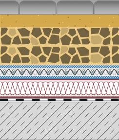 Rozwiązania systemowe - dachy intensywne - WE 25-I - chodnik i droga na dachu