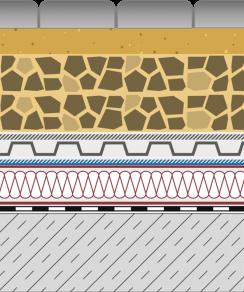 Rozwiązania systemowe - dachy intensywne - GR 400-I - chodnik i droga na dachu
