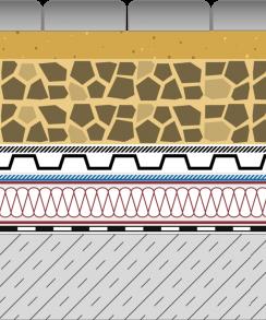 Rozwiązania systemowe - dachy intensywne - GR 700-I - chodnik i droga na dachu