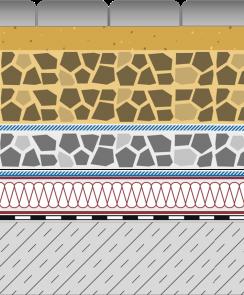 Rozwiązania systemowe - dachy intensywne - KR 50-I - chodnik i droga na dachu