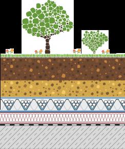 Rozwiązania systemowe - dachy intensywne - GD 60-I - ogród na dachu