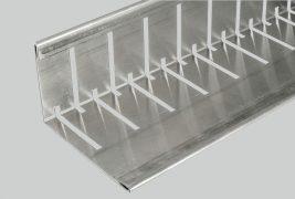 Kątownik perforowany KFR - krawędziowe odwadnianie dachów płaskich oraz separacja i spiętrzanie materiałów na dachu zielonym